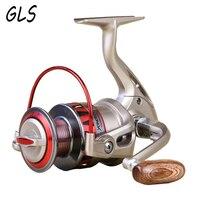 Carretel de metal completo balancim 10bb 5.5:1 gire a linha de peixes carretel roda 1000-7000 série carretel de pesca