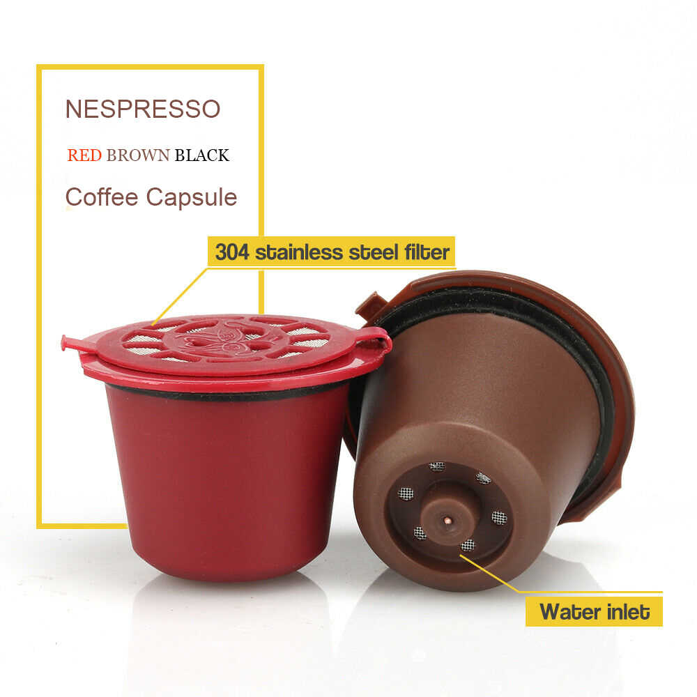 New Refillable Filter For Nespresso Reusable Coffee Capsule Filter Reutilizavel  Spoon and Brush  Essenza mini