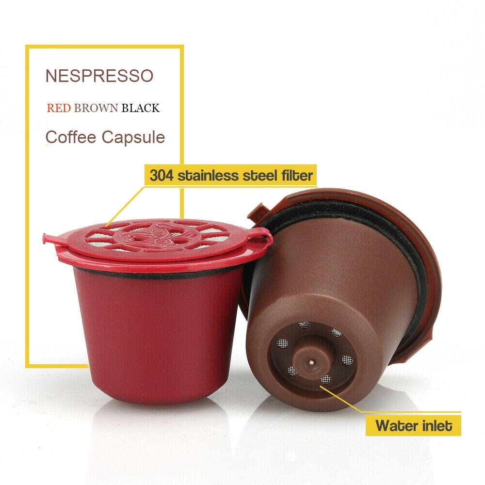 New Refillable Filter Nespresso Reusable Coffee Capsule Filter Reutilizavel  Spoon And Brush  Essenza Mini