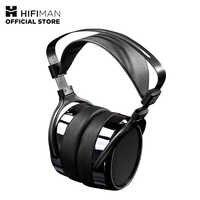 HIFIMAN HE-400I auriculares de tamaño completo planos magnéticos auriculares ajustables con cómodos almohadillas de oído con diseño de espalda abierta