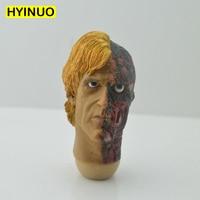1/6 Scale Male Man Batman Megamind Two Face Good and evil Struggle Harvey Dent Head Sculpt Headplay for 12 Action Figure Body