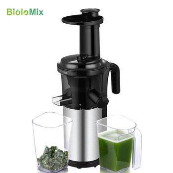 200W 40RPM Stainless Steel Masticating Slow Auger Juicer Fruit and Vegetable Juice Extractor Compact Cold Press Juicer Machine 1