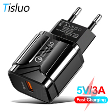 Quick Charge 3.0 3A USB Charger EU US Wall Fast Charging Ada