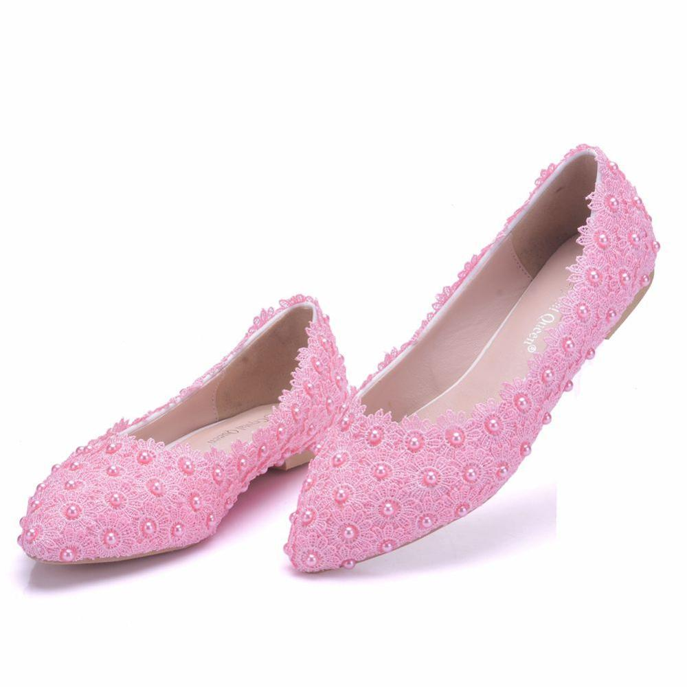 Femmes chaussures plates 2019 mode femmes chaussures décontractées perle chaussures plates femmes mocassins chaussures plates rose