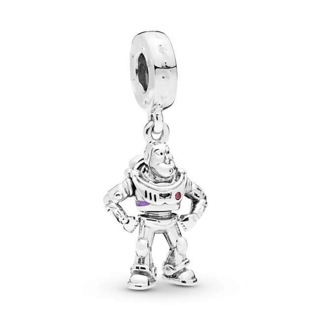 2Pcs/Lot Lovely Dinosaur Hedgehog Toy Story Mickey Charms Beads fit Pandora Bracelets Necklace For Women DIY Jewelry Accessories