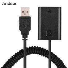 Andoer 5V USB NP FW50 adaptateur de coupleur de batterie factice avec câble à ressort Flexible pour Sony A5000 A3000 NEX5 NEX3 ILDC caméra