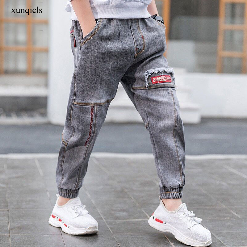 4-14 Y Boys Jeans Pants Teenager Casual Trousers Children Denim Clothing  Clothes Baby Long Spring Autumn