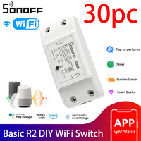 Sonoff Basic R2 Smart Home Wifi Switch Wireless Remote Control Light Switch Timer Sonoff EWeLink Alexa Google Home Voice Control