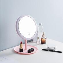 LED Light Makeup Mirror USB Charging Makeup Vanity Mirrors S