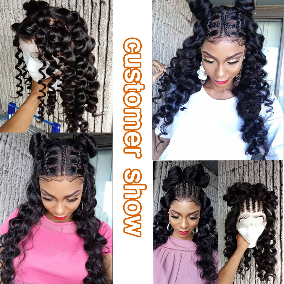 Image 4 - Brazilian loose wave bundles with frontal human hair weave frontal with bundles non remy hair bundles with lace frontal closure-in 3/4 Bundles with Closure from Hair Extensions & Wigs