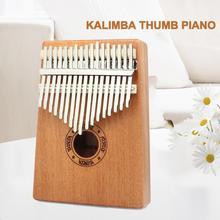 17 ключ калимба африканская твердая сосна красное дерево палец пианино Sanza Mbira Calimba играть с гитарой деревянные музыкальные инструменты