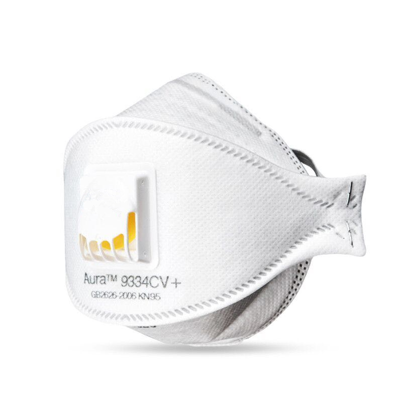 FFP3 Mask 9334+ Aura Breathe Mask CE682244 Oily And Non-oily Particulates Breathing Mask Preventionof Germs PM2.5 Dust Kn95 Mask