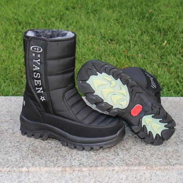 Men snow boots 2020 men winter shoes warm waterproof non-slip platform boots for men botas de hombres size 40 - 45 2