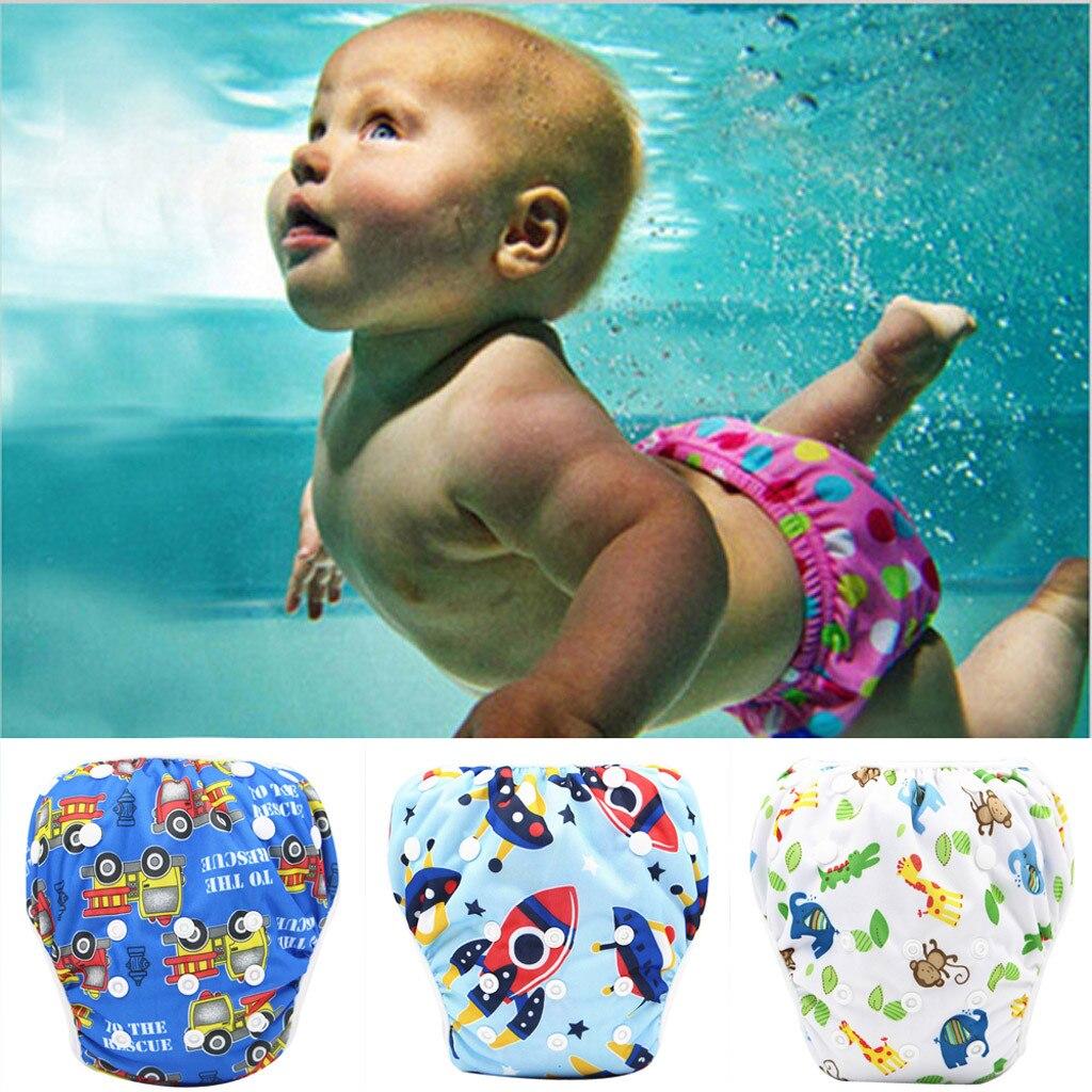 ALVA Baby Girl Swim Diaper Reusable Breathable Printed With Snaps Pool Pant