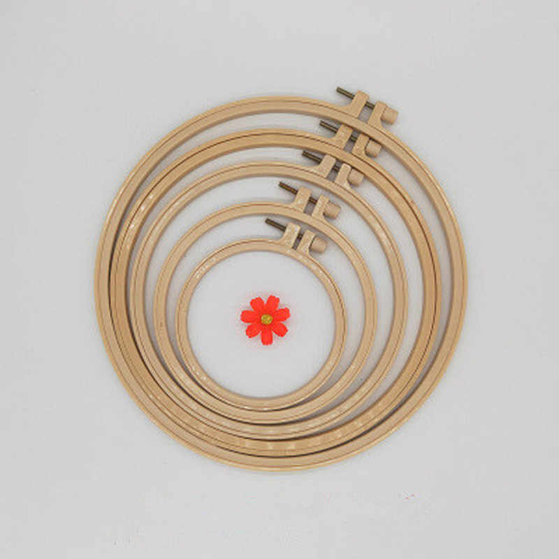 10-24 cm DIY Embroidery Hoop Tool Circle Round Bamboo Frame Art Craft Cross Stitch Chinese Traditional Sewing Manual To