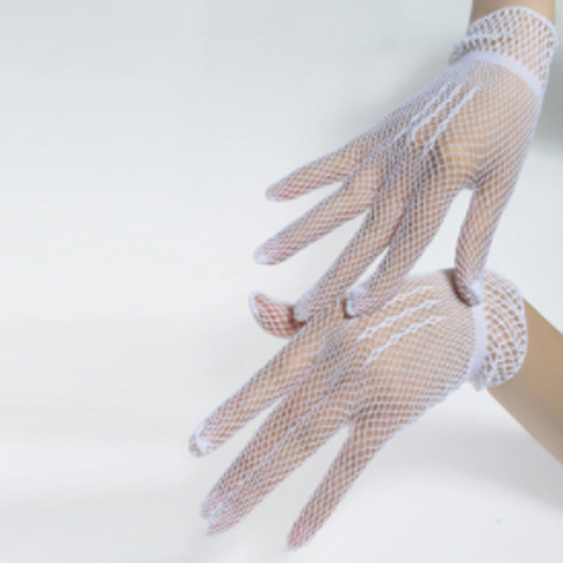 Women Gloves 2020 New Lace High Wrist Hollow Out Holes Sexy Punk Goth Lady Disco Dance Costume Full Finger Mesh Fishnet Gloves