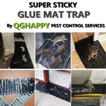 Mouse Rodent Glue Traps Board Super Sticky Waterproof Rat Snake Bugs Household Mice Control Products 1.2m Black