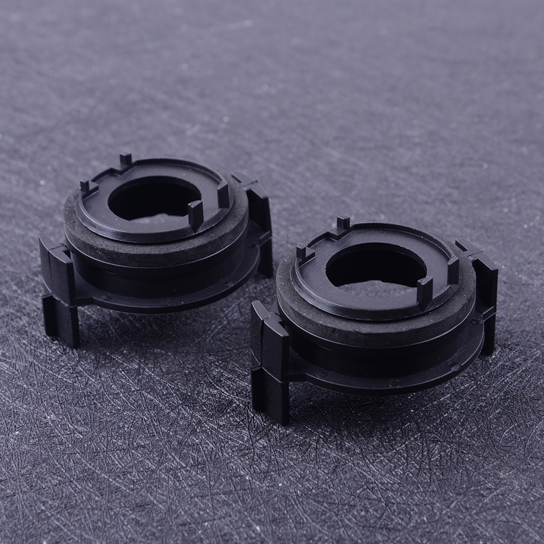 beler 2pcs Black Plastic <font><b>LED</b></font> Headlight Bulbs Lamp Light Clip <font><b>Adapter</b></font> Socket Base Holder Retainer Fit For <font><b>BMW</b></font> <font><b>E46</b></font> E90 3 Series image