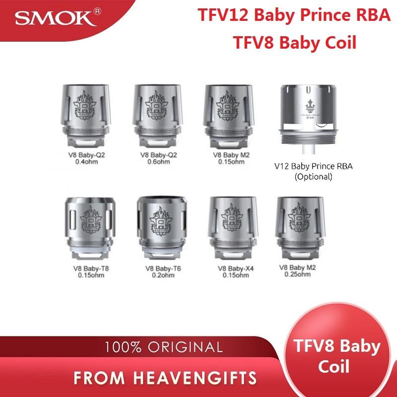 SMOK TFV12 Baby Prince RBA Coil/ TFV8 Baby Coil Q2/T8/X4 /T6/M2/RBA Coil For TFV12 Baby Prince Tank/ TFV12 Big Baby Prince Tank