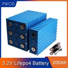PWOD Marke NEUE 8PCS 3,2 V CALB 200AH Liunium Eisen Lifepo4 Batterie Für 12V400AH 24V200AH RV Batterie Mit BUS BARS Steuer Freies