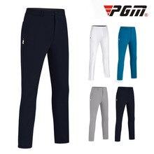 Новинка, PGM штаны для гольфа, мужские летние штаны с нижним эластичным поясом и вставной тройкой, Тонкие штаны