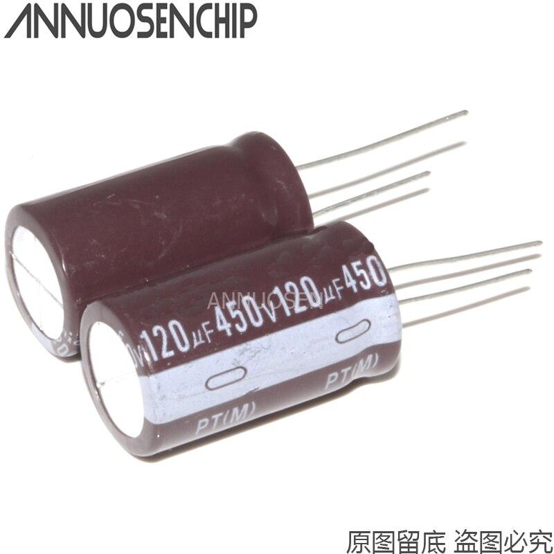 10 pièces 450 V 120 UF 450V120UF 450 V 120 UF Condensateur Électrolytique En Aluminium