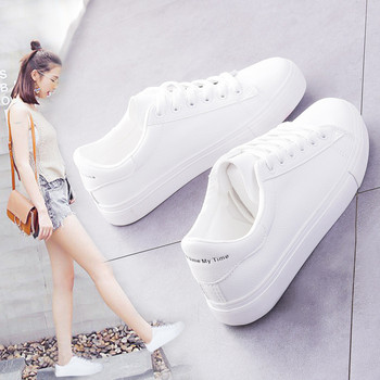 Fashion Shoes Women's Vulcanize Shoes Spring New Casual Classic Solid Color PU Leather Shoes Women Casual White Shoes Sneakers 2017 new fashion sport casual shoes women white brand classic lattice women shoes flat breathable casual superstar shoes women