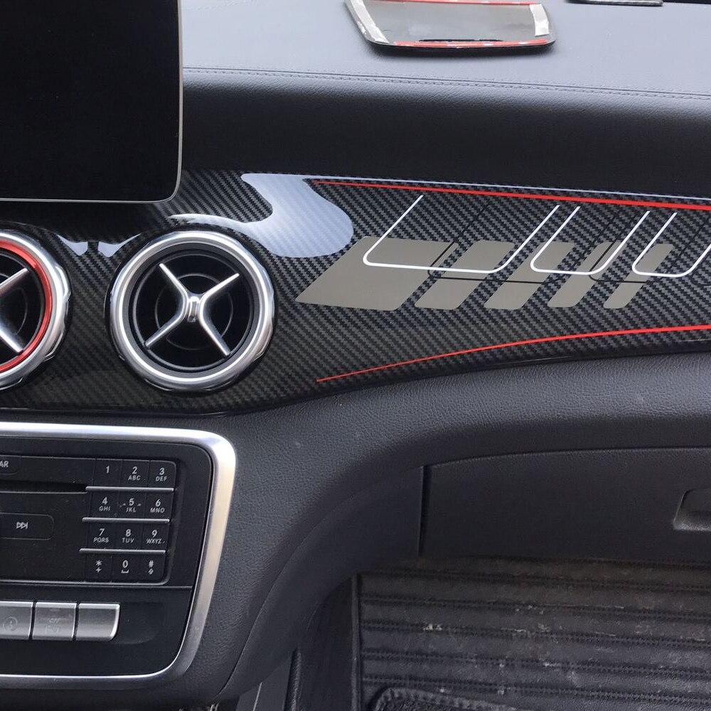 For Mercedes GLA/CLA250 W117/GLA X156/220/GLA AMG/CLA 45 Carbon Fiber Car Stickers Modified Interior Control Panel Accessories