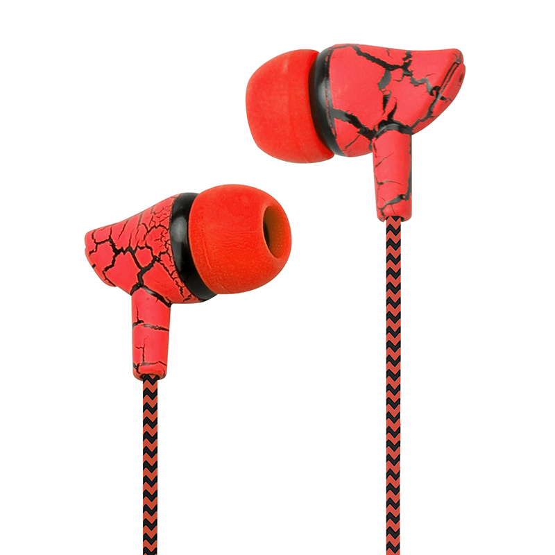 3.5mm New Prouct Crack Earphone Cloth Rope Stereo Bass MP3 Music Headset With Micrphone(China)