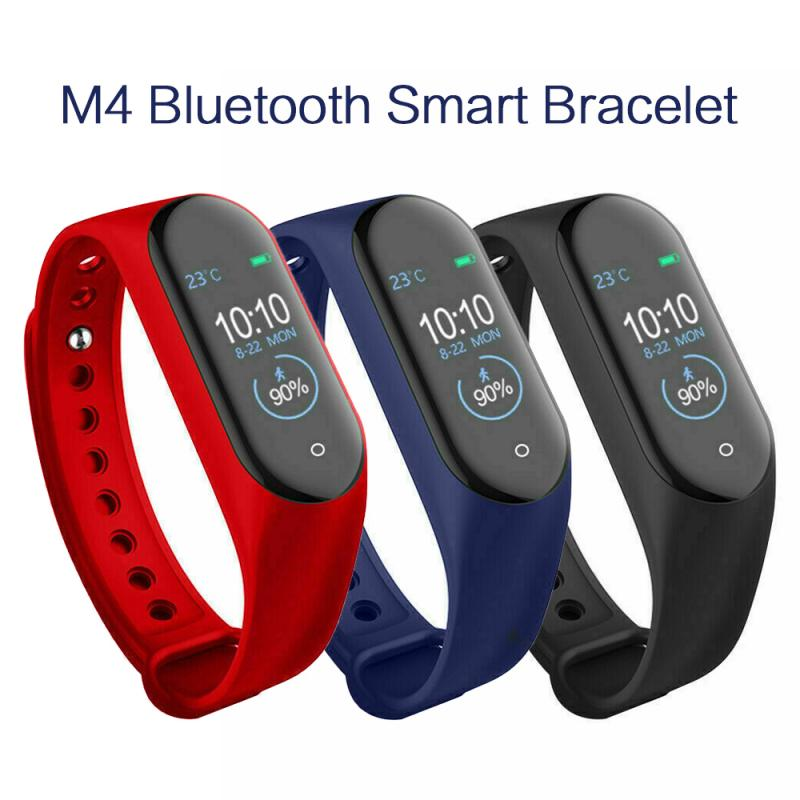 M4 Sports Smart Watch IP67 Waterproof Smartwatch Blood Pressure Heart Rate Monitor Women Men Fitness Wristband with Charger