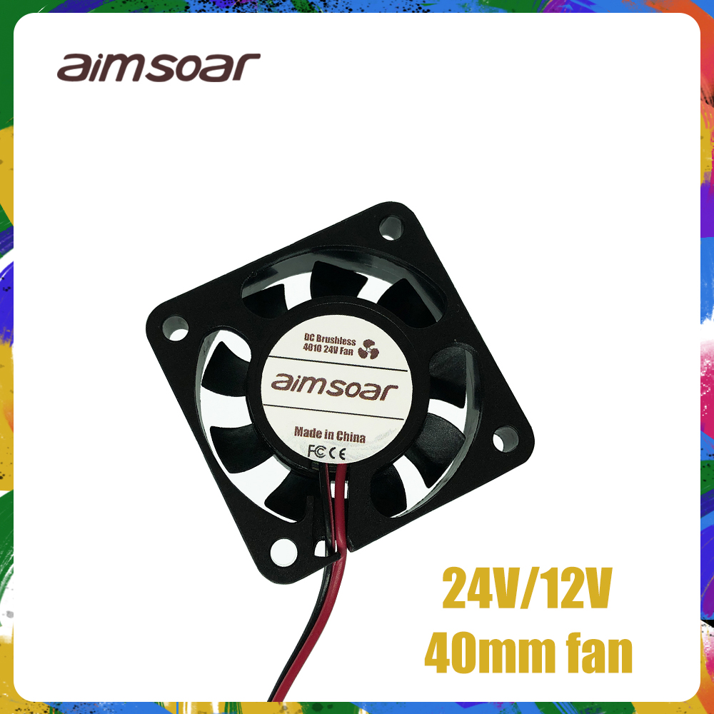 Fan 12v 24v Ender 3 Fan 40mm Fan 2 Pin 3d Printer Parts 4010 40*40*10mm