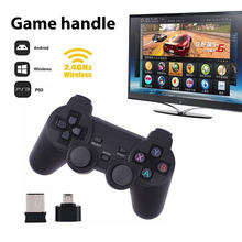 Cewaal Hot 2,4G Gamepad inalámbrico PC para PS3 caja de TV Joystick 2,4G mando a distancia Joypad para Xiaomi Android(China)