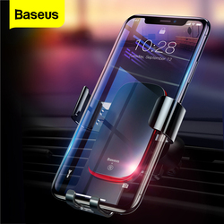 Baseus Gravity Car Phone Holder For iPhone Air Vent Mount Universal Car Holder for Phone in Car Cell Mobile Phone Holder Stand
