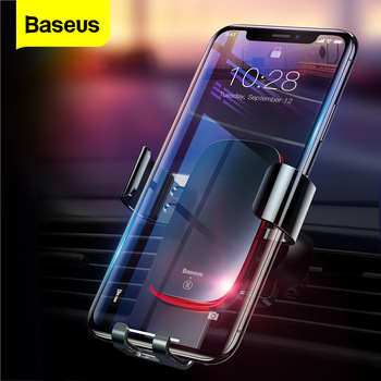 Baseus Gravity Car Phone Holder For iPhone Air Vent Mount Universal Car Holder for Phone in Car Cell Mobile Phone Holder Stand car cute cartoon mobile phone flexible gravity holder