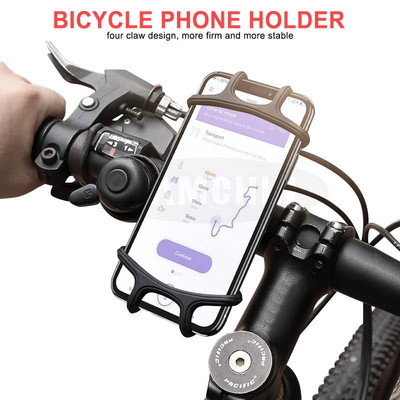 Silicone Adjustable Bike Phone Holder Anti-shock Phone Holder Clip Stand GPS Mount Bracket For Bicycle Phone Holder Phone