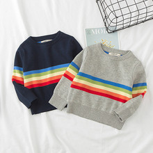 Funfeliz Baby Boys Sweater Autumn Winter Tops Kintted Sweater for Girls Long Sleeve Kids Cardigan Children Winter Clothes 12M-6Y 2018 infant baby girls embroidered sweater girls autumn knitted sweater children kids tops girls clothes cardigan winter tops 10