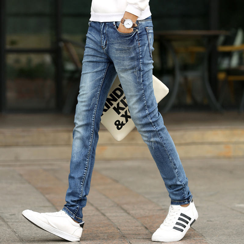Fashion Men Casual Stretch Skinny Jeans Bound Feet Trend Youth Cowboy Long Pants Male Hiphop Skinny Jeans For Men Streetwear