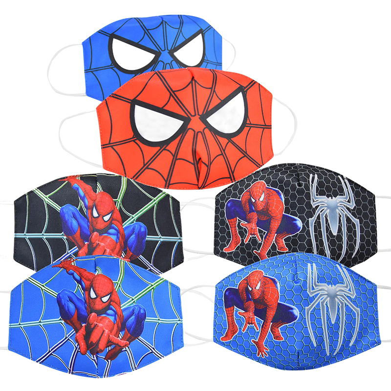 Kid's Face Mask Marvel Series Spider-Man Child Protective Masks Dust-proof Breathable Anti-haze Cartoon Mask Cosplay Toys Gift