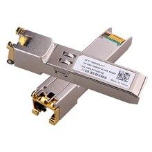 Gigabit RJ45 SFP מודול 1000Mbps SFP נחושת RJ45 SFP משדר מודול תואם עם סיסקו/Mikrotik Gigabit Ethernet מתג