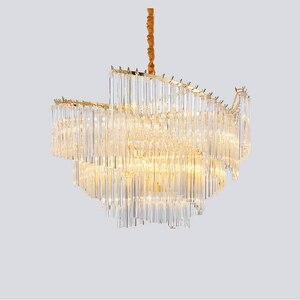 Image 4 - آرت ديكو الحديثة الثريا مصباح لغرفة المعيشة AC110V 220 فولت الذهب تركيبات إضاءة غرفة الطعام