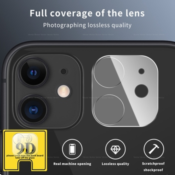 9D Camera Protector for iPhone 11 Pro Max 12 Pro Max 12 Mini Full Back Lens Protective Glass Screen Protector Camera Accessories