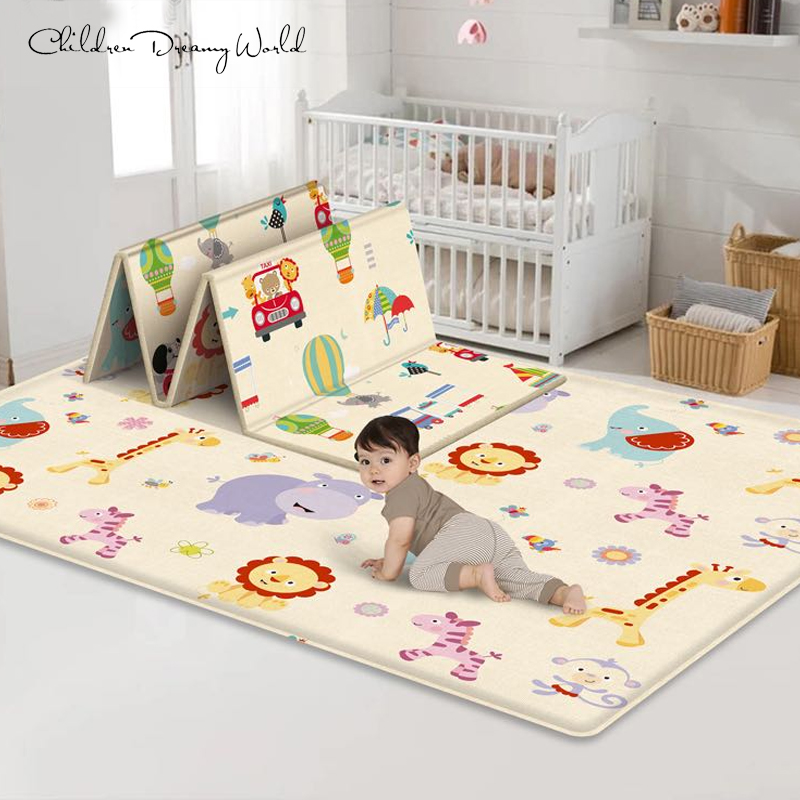 Foldable Baby Play Mat Thickened Tapete Infantil Home Baby Room Decor Children Play Puzzle Mat Toys Innrech Market.com