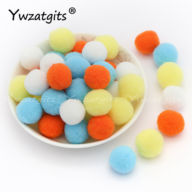 Multicolor Pompom Ball 8mm/10mm/15mm/20mm/25mm/30mm Soft Pompones Fluffy Plush Crafts DIY Furball Home Decor Sewing Supplies