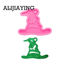 Keychain Crafting-Mould Silicone Mold Magic Witch Resin DIY for DY0338 Hat/broom Not-Sticky