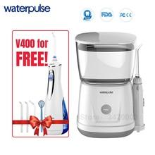 Waterpulse V700 9pcs Jet Tips Water Flosser 1000ml Capacity Oral Irrigator Traveler Portable Dental Oral Flosser