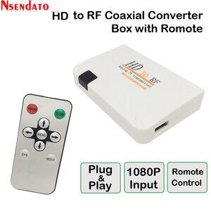 Image 2 - Analog TVเครื่องส่งสัญญาณHD To RF HDวิทยุความถี่สัญญาณHD Modulatorกล่องConverterพร้อมRemomeควบคุมซูมสำหรับHDTV PC