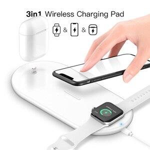 Image 2 - Suntaiho 10W Schnelle Qi Drahtlose Ladegerät Für Iphone XS XR X 8 11Pro Max Drahtlose Ladestation Für Apple airpods Uhr 5 4 3 2 1