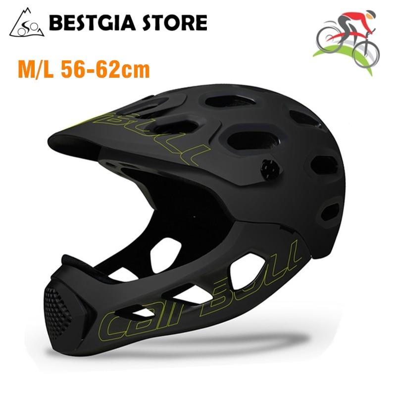 New Adult Full Covered Bicycle Helmet OFF-ROAD MTB Mountain Road Bike Full Face Helmet DH MTV Downhill Cycling Helmet Casco BMX