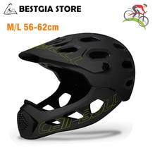 New Adult Full Covered Bicycle Helmet OFF ROAD MTB Mountain Road Bike Full Face Helmet DH MTV Downhill Cycling Helmet Casco BMX