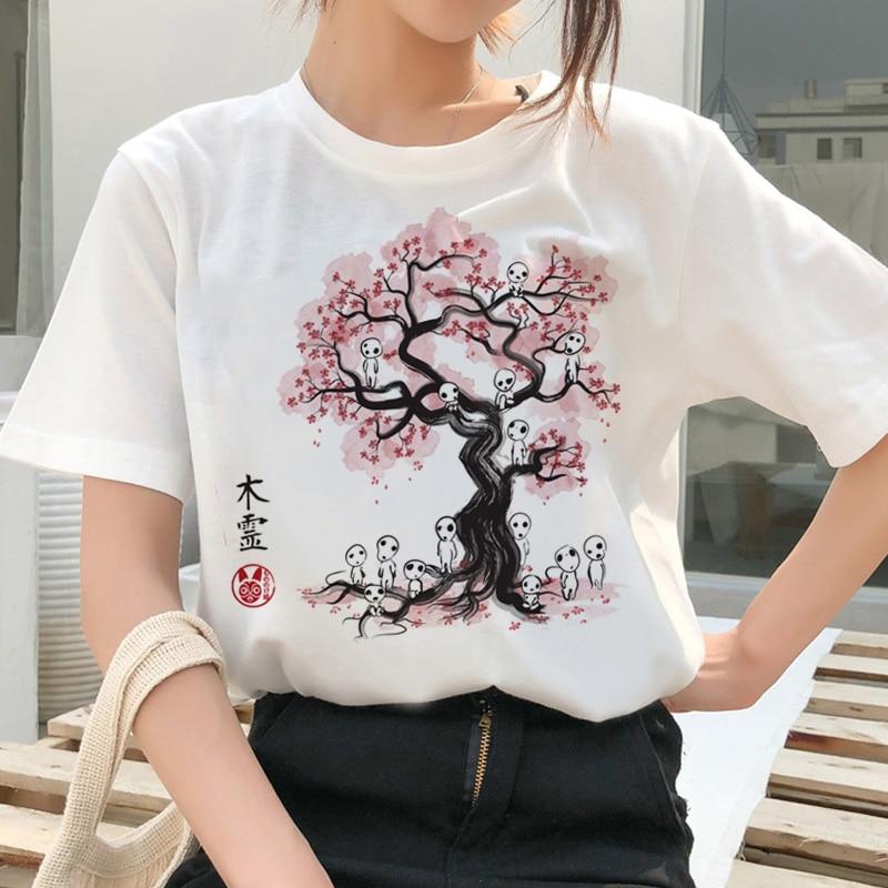 totoro Spirit Away t shirt women Studio Ghibli Japanese cartoon Anime tshirt femme Miyazaki Hayao kawaii clothes t shirt tops in T Shirts from Women 39 s Clothing